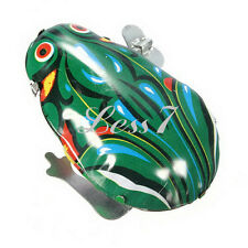 Retro Metal Wind-up Jumping Frog Clockwork Tin Toys Classic Party Favor New