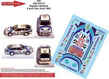Decals 1/18 réf 297 Alfa GTV 6 Rigollet -Battelot 8 ème Tour Auto 1983