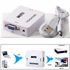 Full VGA to HDMI HD Video 1080P Audio Converter Box Adapter For PC Laptop TV CA