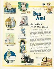 1920's BIG Vintage Bon Ami Cleaning Powder Co. Art Print Ad