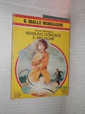 NESSUNO CONOSCE IL MIO NOME Joyce Harrington Il Giallo Mondadori 1751 1982 libro