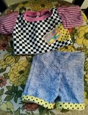 """Cabbage Patch Kids Vintage 2pc Abstract print pants set*Fits 16""""CPKs"""