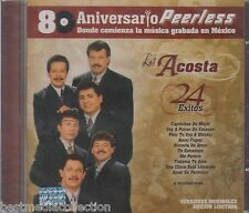 Los Acosta CD NEW 24 Grandes Exitos PEERLESS 80 Aniversario SEALED