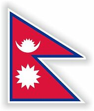 "Nepal flag sticker 3.2x4""Bumper Decal Car Fridge Tablet Door Bike Book Truck"