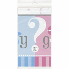 Gender Reveal Party Girl Boy ? Baby Shower Table cover 54 x 84