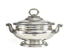 Elkington & Co. Silverplate Footed Tureen, with hand engraved armorials c1850