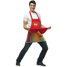 Hot Dog Vendor Dirty Apron Costume Halloween Fancy Dress
