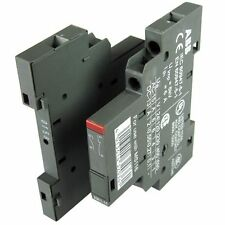 2x ABB 1 NO & 1 NC Auxiliaire Contact Blocs 6A Circuit Breakers HK1-11