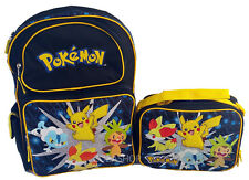 "Pokemon Pikachu 16"" Large Backpack and Lunch set 2 pc"