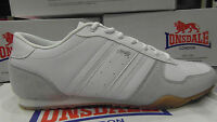 Retro Lonsdale Clark Poplar mens trainers classic shoes 112070 white leather