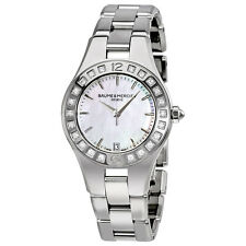 Baume and Mercier Linea Mother of Stainless Steel Diamond Ladies Watch MOA10072