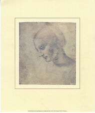 Leonardo da Vinci - Study for the Litta Madonna - genuine Litho Print