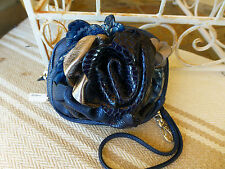 Brighton NWT Rhapsody in Blue Leather Pouch Wristlet Bag Sapphire E95026  $130