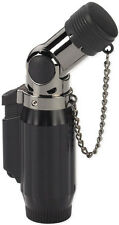 Quadruple Jets  Cigar/Cigarette Torch Lighter-Black & Gunmetal