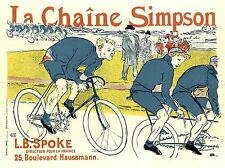 Ha hablado de La Chaine Simpson Francia Retro Vintage Cartel Publicitario 1504pylv