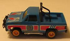 Tomy Turbo Devil's Ditch Blue GMC Pickup Truck, Runs