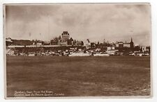 1931 QUEBEC CITY CANADA RPPC Real Photo Postcard ST LAWRENCE RIVER Chateau QC