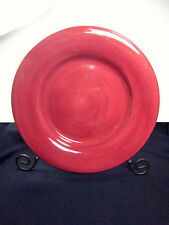 """TABLETOPS UNLIMITED ESPANA CHERRY RED DINNER PLATE 12 7/8"""""""