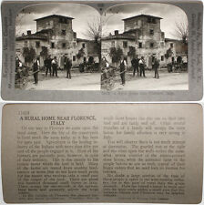 Keystone Stereoview of a Rural Home Near Florence, ITALY From RARE 1200 Card Set