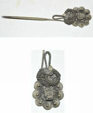 CHINA QING DYNASTY  ETHNIC MINORITY  TRADITIONAL SILVERING ACCESSORY HAIRPIN