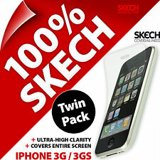New 2 X Skech Ultra Clear 3 Layer Screen Protector LCD Glossy For iPhone 3G 3GS