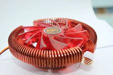 NEEDCOOL F7 RED LED CPU COOLER FAN w COPPER HEATSINK for 755 115x AMD i3/i5/i7