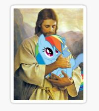 Jesus Loves Rainbow Dash My Little Pony Brony Sticker decal car laptop cute