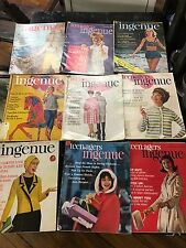 INGENUE 1960's Sophisticated Teenager 8 Issues FASHION BEATLES BOYS DATING FUN