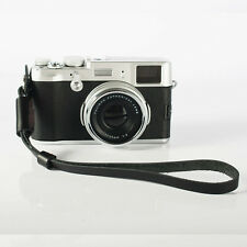 Genuine Leather Camera Hand Wrist Strap For Sony Fujifilm Samsung Canon Black