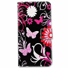 Flip Folding Stand Card Slots PU Leather Case Cover For Apple Samsung LG Phone
