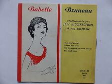 BABETTE BRUNEAU avec JEFF HIGGINBOTHOM Mon seul amour ... GEM  EGEX 4583