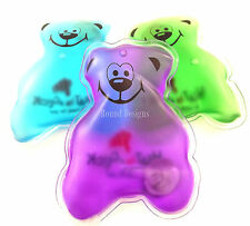 4 x calore in un clic Riutilizzabile Piccolo Calore Pad Hand Warmers Stocking Filler Bear