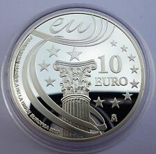 Spain 10 Euro 2010 Silver coin proof EU Council Presidency