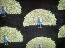 PERSONALIZE BEAUTIFL PEACOCK BIRD BIRDS FEATHERS FLEECE THROW BLANKET 58X64