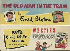 WEETIES AUSTRALIA CEREAL GIVEAWAY PROMO ENID BLYTON OLD MAN IN THE TRAM COMIC VN