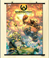 Cool Game Overwatch OW ROADHOG Cosplay Poster Wall Home Decor Scroll Gift  #T59