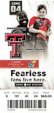 2014 TEXAS TECH RED RAIDERS VS KANSAS JAYHAWKS TICKET STUB 10/18/14 JACKSON