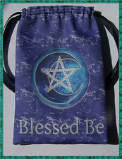 Pentacle Blessed be Tarot Card Bag ideal for most fairy angel  Wicca tarot cards