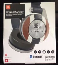 JBL COACH SYNCHROSE Limited Edition On-Ear Bluetooth Headphones Navy Blue/Brown