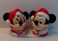 ENESCO Christmas Mickey And Minnie Mouse Salt And Pepper Shakers Collectible G