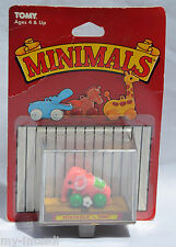 Vintage 1982 TOMY Wind Up Toy MINIMALS Tiny Pink Elephant Teeny Toys Charm MOC