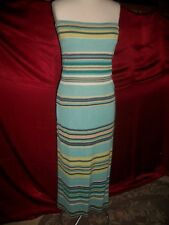 DOUBLE D RANCH COWGIRL LONG TURQUOISE KNIT SKIRT & TUBE TOP S