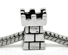 Castle Turret Tower Medieval Middle Ages Fairytale Bead for Euro Charm Bracelets