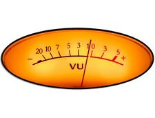 3x5 inch OVAL Vintage VU Meter Sticker -music gift recording engineer pro tools