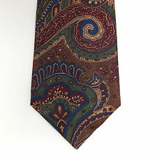 Jaeger vintage Paisley tie pure silk British classic pattern