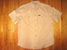 Big & Tall Gander Mt Tan Heavy Cotton Short Sleeve Casual Shirt Size 2XLT New