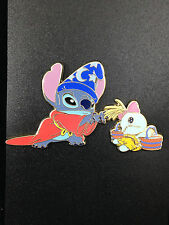 Disney Tokyo Japan Costume Stitch and Scrump as Sorcerer Apprentice Fantasia Pin