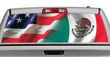 Truck Rear Window Decal Graphic [American Pride, Mexican] 20x65in DC85801
