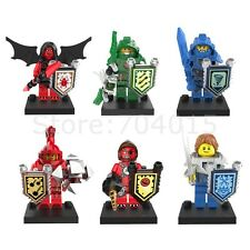 The NEXO Knights 6pcs Set Action Minifigures Toy Building Blocks For Kids Gift
