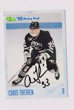 93/94 Classic Draft Hockey Chris Therien Providence College Autographed Card